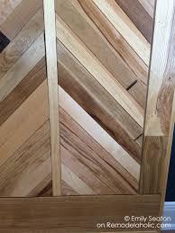 Bathroom Vanity Woodworking Plans Remodelaholic How To Build A Wood Chevron Barn Door