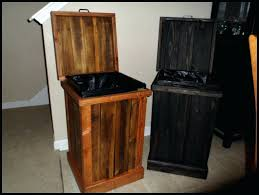 wooden trash can holder plans zoom wooden kitchen garbage can
