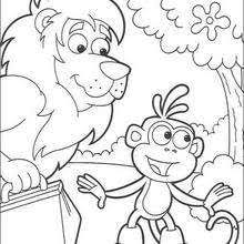 dancing boots monkey coloring pages hellokids