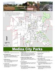 Ohio City Map Medina City Parks Map The City Of Medina Ohio