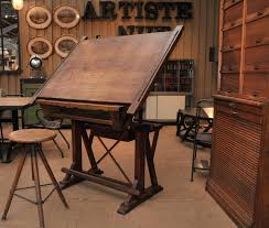 Vintage Drafting Tables For Sale by Le Grenier Roubaix France Stock Ancienne Table D