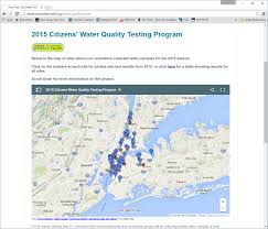Lat Long Map New York Harbor Water Quality Results