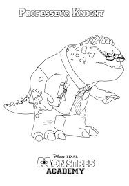monsters inc mike wazowski coloring page monsters university