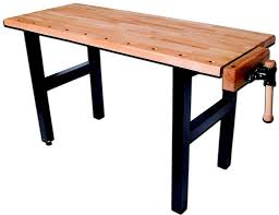 Work Bench With Vice Wooden Workbench Hobby With Single Vice Pinie