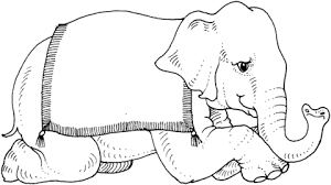 circus elephant coloring free printable coloring pages