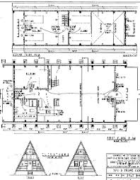 a frame blueprints cabin plan and blueprint 5965 a frame cabin plan download package