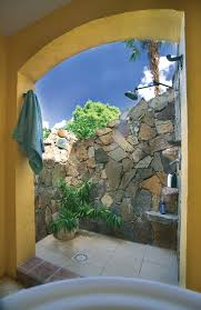 outdoor shower in the backyard for all those times i come home