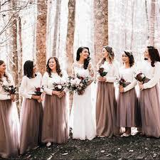 tulle skirt bridesmaid aliexpress buy customized bridesmaid skirts nature waistline