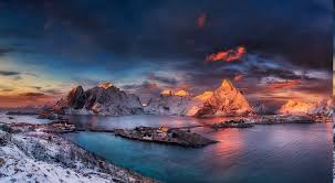 winter nature wallpapers landscape nature winter sunrise snow ports mountain norway