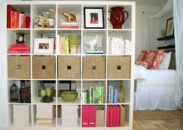 furniture white ikea expedit bookcase filled with books and frame