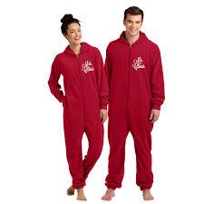 mr and mrs claus fleece loungers fleece pajamas
