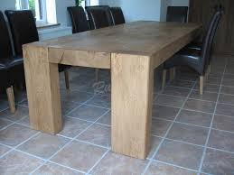 rustic oak kitchen table chunky four legged dining table beams dining and tables