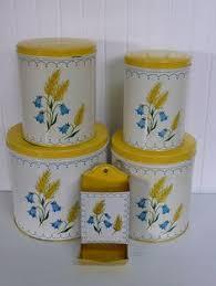 vintage kitchen canisters kitschy kitchens pinterest