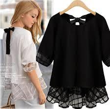 Black Blouses For Work Online Get Cheap Ruffled Blouses For Women Aliexpress Com