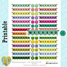 homemade planner templates weekend pennant banner printable planner stickers weekend banner weekend pennant banner printable planner stickers weekend banner stickers double box diy planner printables instant download pdf