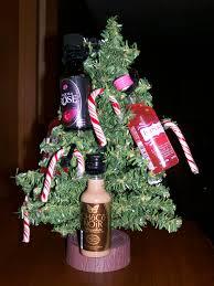 liquor tree using mini bottles of alcohol makes a fun and casual