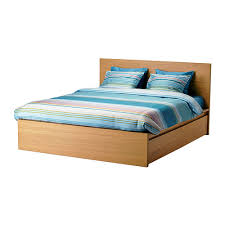 How To Make A Box Bed Frame Malm Bed Frame High W 2 Storage Boxes Oak Veneer Luröy Standard