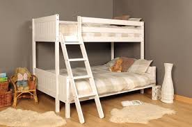 Ft Ft Triple Wooden Bunk Bed Kids Pine White  Mattress Option - Next bunk beds