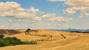 san quirico d orcia italy july 16 2016 view of a farm house
