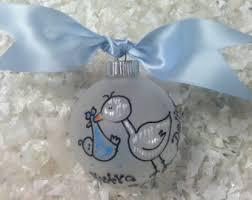 stork ornament etsy