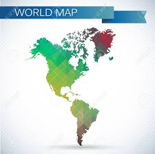 Map Of South America And North America by Western Hemisphere Globe Bright Vector Map Of The World North