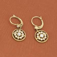 earrings brands leslie greene 18k yellow gold dangle earrings