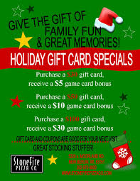 gift card specials stonefire pizza co birthday food and more