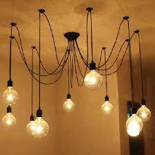 Diy Hanging Light Fixtures 10 Lights Edison Retro Spider Industrial Pendant Light 110 220v