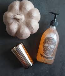 diy halloween soap dispenser rail19 sugar skull orange pumpkin jpg t u003d1506139275