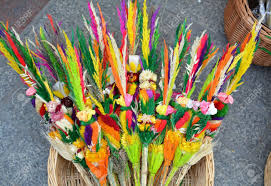 palm sunday palms for sale traditional easter palms for celebration of palm sunday stock