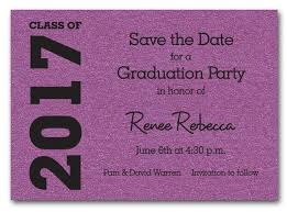 Save The Date Invitation Shimmery Purple Graduation Save The Date Cards