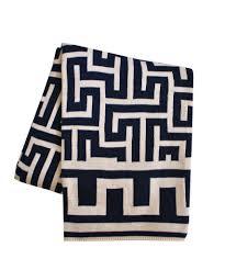 greek key throw blanket navy u2013 high street market