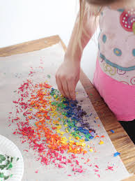 kids u0027 craft wax paper rainbow art hgtv