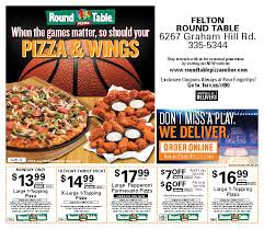 round table pizza menu coupons felton menu coupon round table pizza online