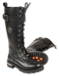 motorcycle men and women leather boot