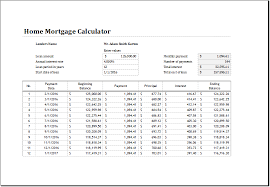 Excel Mortgage Calculator Template Home Mortgage Calculator Template For Excel Excel Templates