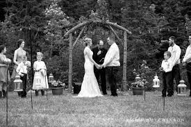 Country Backyard Wedding Ideas Rustic Backyard Wedding Stacy Steven Northern Arm Central