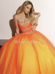 rectangle pear shaped petite lace up natural orange tulle ball