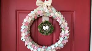 spring paper wreath how to process video diy home decor