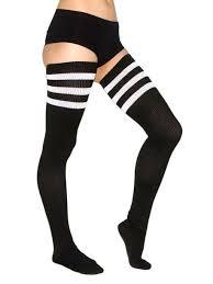 socks football black white knee high socks wheretoget
