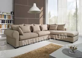 canapé d angle 6 places pas cher canapé d angle 6 places gauche ou droit coloris brun clair en tissu