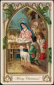 holy nativity free vintage art