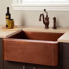 copper apron front sink 30 vernon hammered copper farmhouse sink kitchen