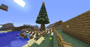 our christmas tree with presents minecraft