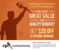 thanksgiving coupon cpi plumbing