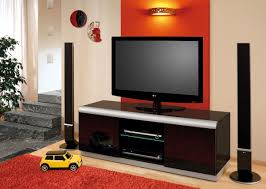furniture flokati area rug and modern design tv cabinet with wall
