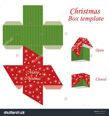 box christmas gift box template
