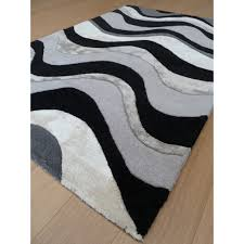 Black And Silver Rug Botanical Saria Black Silver Rug Only Available At Carpet Runners Uk