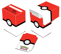 pokémon poké ball red and white full view deck box ultra pro