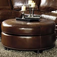 catchy round leather ottoman coffee table top 10 round leather
